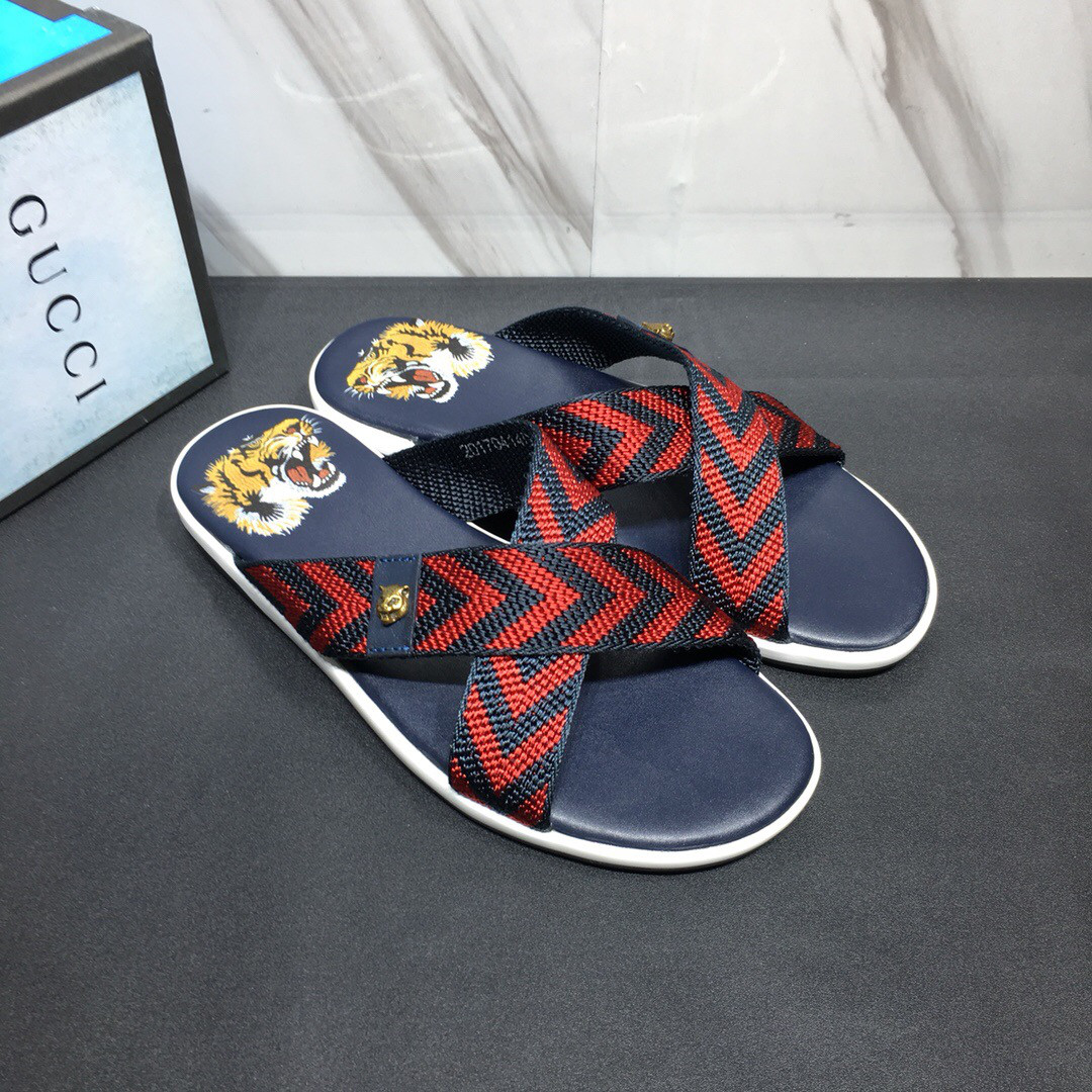 Мужские шлепанцы Gucci (Гуччи), фото 1