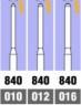 Бор алмазный цилиндр торцевой (размеры: 010-016) Oko Dent (Германия) NaviStom