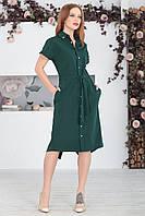 Платье на пуговицах в зеленом цвете, фото 1