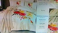 Комплект постельного белья (200Х220) Auro с покрывалом, терракота, Lale Home, Турция