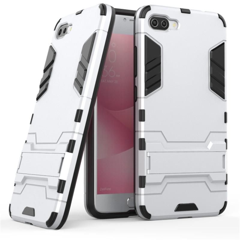 Чехол Iron для Asus Zenfone 4 Max /  ZC554KL / x00id бронированный бампер Броня silver