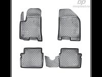 Коврики в салон  Chevrolet Aveo (04-11) (полиур., компл - 4шт)  (NORPLAST)