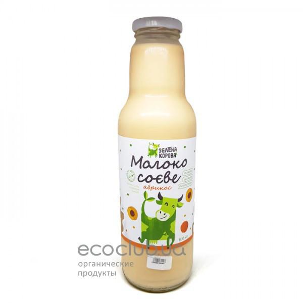 Молоко соевое абрикос Зеленая корова 800мл