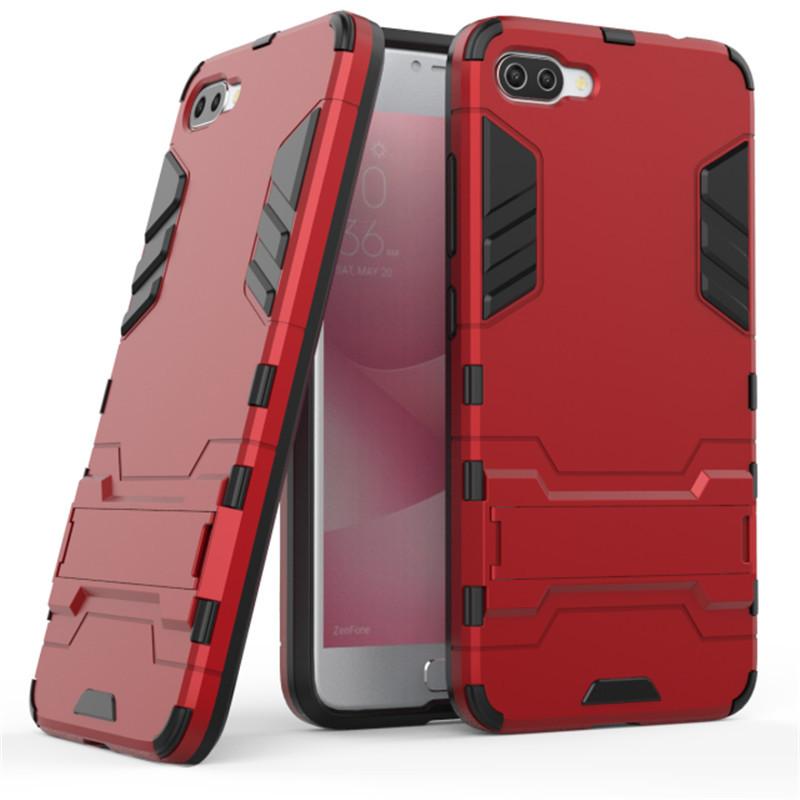 Чехол Iron для Asus Zenfone 4 Max /  ZC554KL / x00id бронированный бампер Броня Red