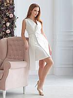 Платье-тренч в молочном цвете, фото 1