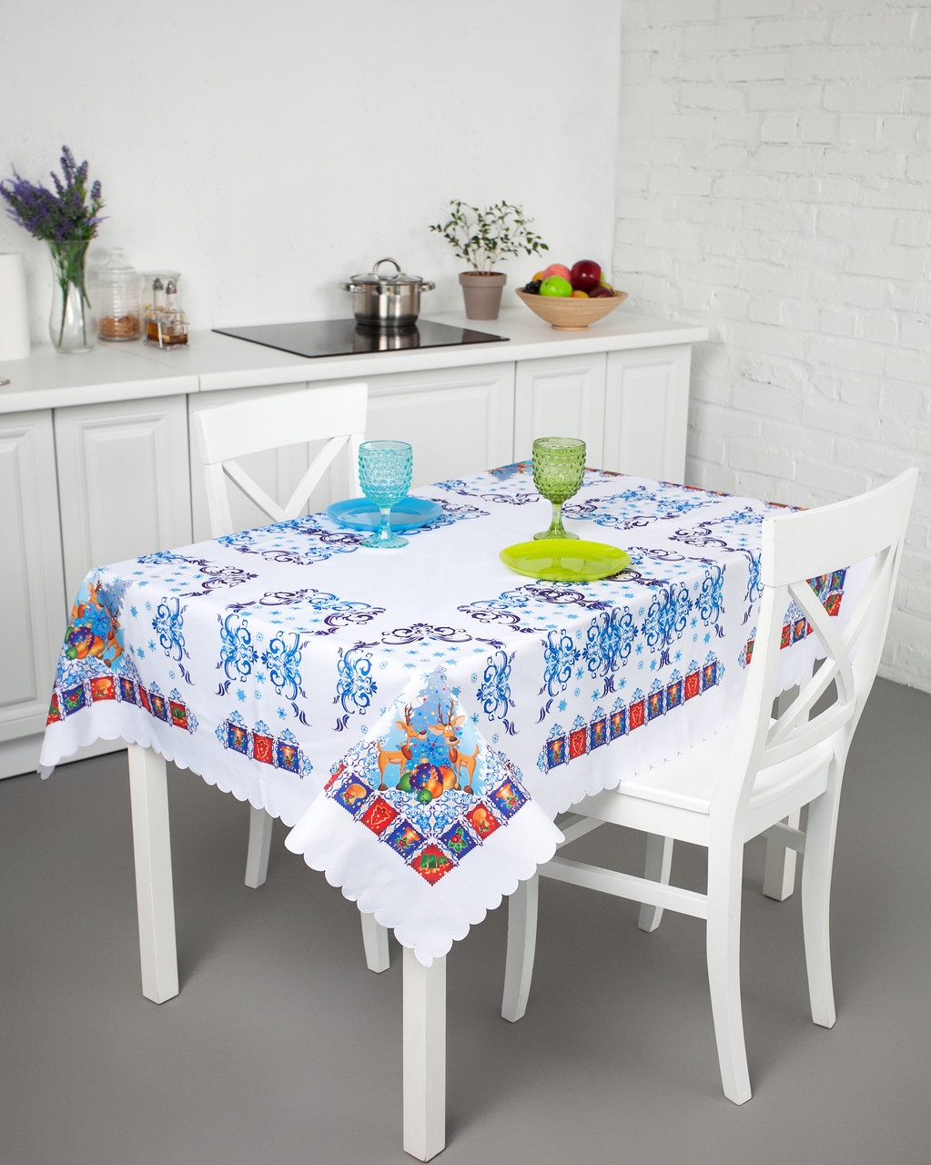 постели скатерть на стол
