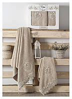 Подарочный набор бамбуковых полотенец Palmira Tanem Sikel Beige