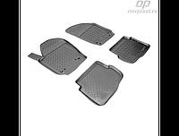 Коврики в салон  Volkswagen Polo V HB (02-09) (полиур., компл - 4шт) (NORPLAST)
