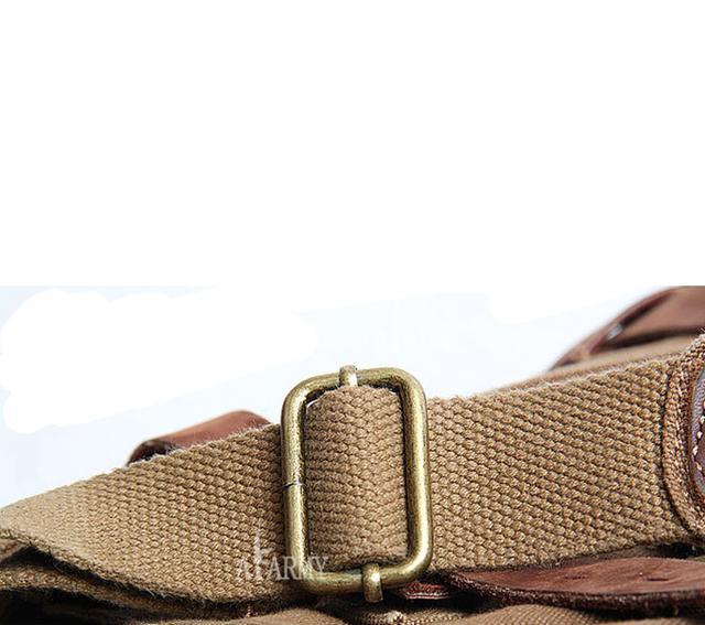 Мужская сумка Akarmy | милитари | коричневая