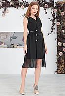 Черное Платье-тренч, фото 1