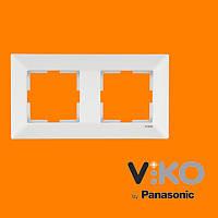 Двойная горизонтальная рамка VIKO Meridian Белый