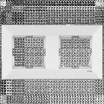 Рамка 2-а біла для горизонтального монтажу, фото 2