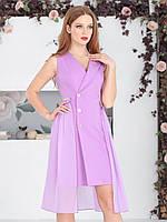 Платье-тренч в сиреневом цвете, фото 1