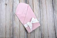 """Летний конверт-одеяло """"Косичка"""", розовый, фото 1"""