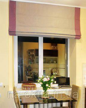"""Модель римских штор """"Стелла""""- крепление на стену"""