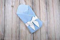 """Плед-конверт """"Косичка"""", голубой, фото 1"""