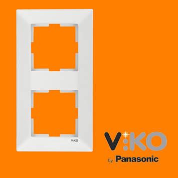 Подвійна вертикальна рамка VIKO Meridian Білий, фото 2