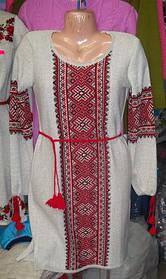 Туника- вышиванка женская вязанная