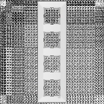 Четверная вертикальна рамка VIKO Meridian Білий, фото 2