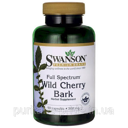 Swanson Full Spectrum Wild Cherry Bark 500 mg 90 Caps, фото 2