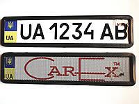 Рамка авто номера нержавеющая, карбон с сеткой и без.