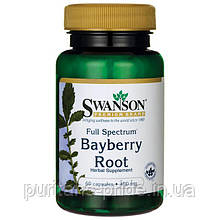 Корень душистого перца Swanson Full Spectrum Bayberry Root 400 mg 60 Caps