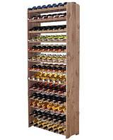 Винная полка деревянная RW-3-91 коричневая для 91 бутылки, фото 1