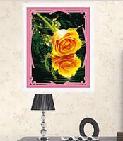 """Алмазная картина """"Желтая роза"""""""