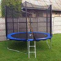 Батут Funfit диаметром 312см (10ft) для детей спортивный с лестницей и внешней сеткой