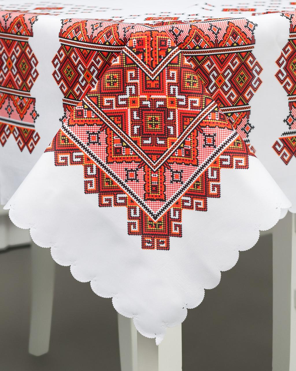 Скатерть с орнаментом украинским