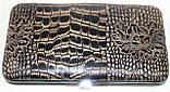 Маникюрный набор из 10 предметов, коричневый с ричунком, фото 4