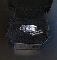 Кольцо Bvlgari булгари 2в1 17р.(серебро), фото 1