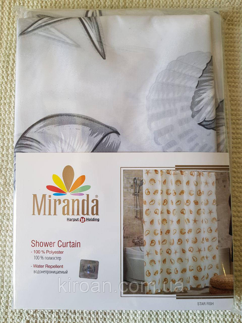Шторка для ванной Миранда Серая М1411