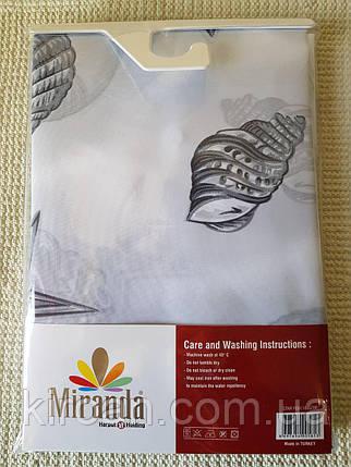 Шторка для ванной Миранда Серая М1411, фото 2