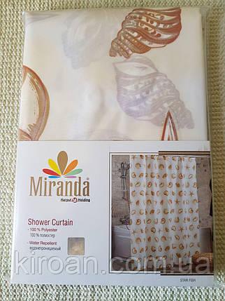 Шторка для ванной Миранда Бежевая М1413, фото 2