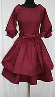Платье стильное молодежное, бордовое, Турция, фото 1