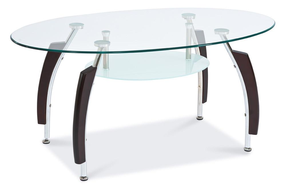 Журнальний кофейний стіл зі скла у вітальню Inessa B Signal