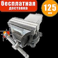 Слесарные тиски поворотные 125 мм / 5″ с наковальней Champion CP-422, тиса, тіски, лещата слюсарні поворотні