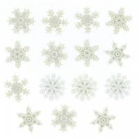 0964 Декоративные пуговицы. Снег