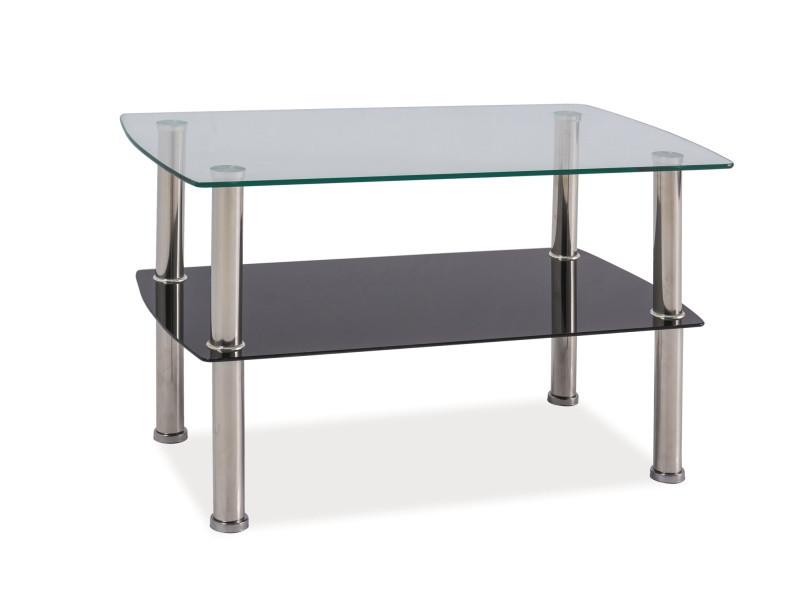 Журнальний кофейний стіл зі скла у вітальню Irene Signal