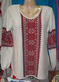 Блуза-вышиванка вязанная