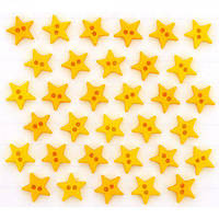 2923 Декоративные пуговицы. Звезды желтые