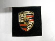 Эмблема PORSCHE металл  58х78 мм