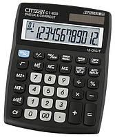 Citizen CT-600J калькулятор бухгалтерский c коррекцией, 12р.