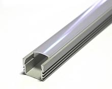 Профиль накладной  глубокий для LED ленты с рассеивателем