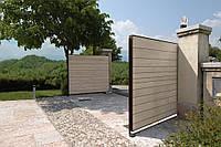 Распашные ворота Alutech ADS400 4500x2000 заполнение сэндвич-панель, фото 1