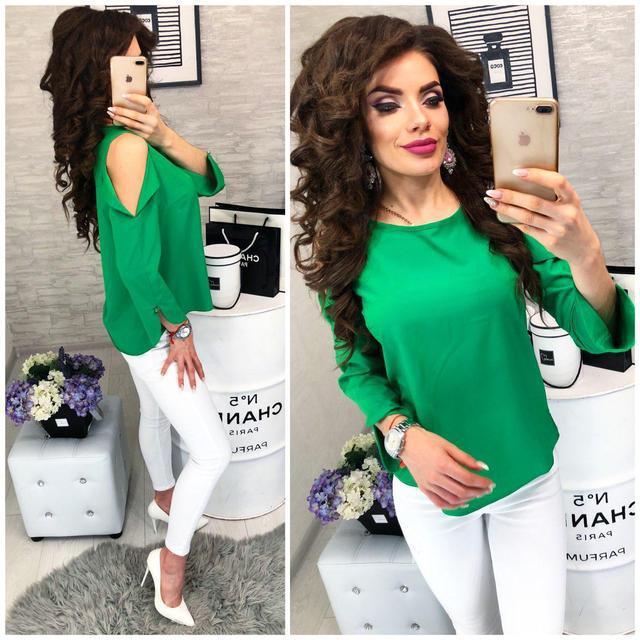 Блуза женская, модель 901/2, цвет - зеленая трава
