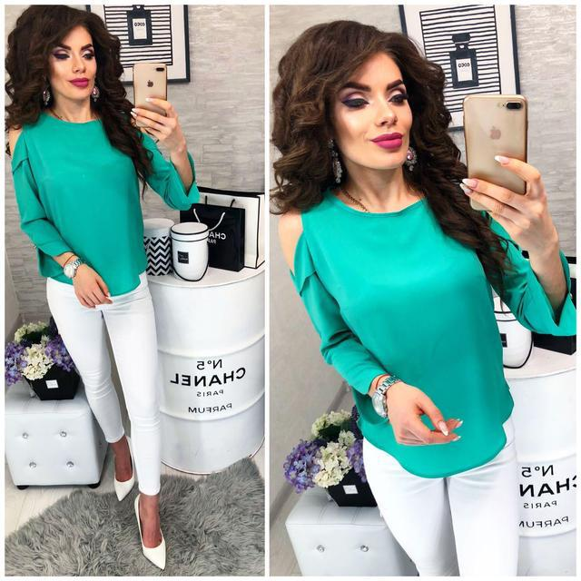 Блуза женская, модель 901/2, цвет - изумрудный
