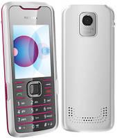 Корпус для телефона Nokia 7210sn бело-малиновый с клавиатурой High Copy