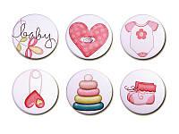 Набор фишек Арт — студия - Baby Girl 6, матовые, 6 элементов